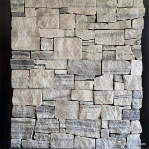 China Natural stone Cement Backing Wall Cladding Tiles / Decorative Wall Covering Stone Panels on sale