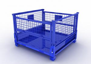 China Steel Pallet Box Metal Mesh Container Lockable Storage Roll Wire Mesh Cage on sale