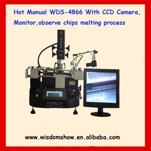 China low cost hot air infrared bga repair machine WDS-4866 with camera monitor on sale