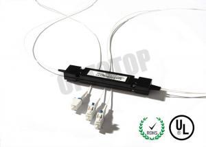 China LC UPC Multimode Fiber Coupler OM3 1 x 2 0.9 mm / Optical Fiber Splitter For Telecom on sale