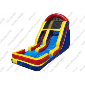 China 0.55 mm PVC Hippo Garden Inflatable Lake Slide For Pool With Fire Resistance on sale