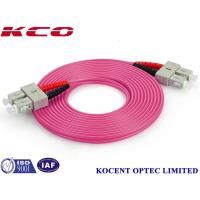 China Duplex / Simplex Fiber Optic Patch Cord , Optical Fiber Patch Cable With FC / PC Connector on sale