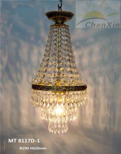 China Exquisite Copper Chandelier Pendant Lights , Luxury Hall Dimmable Modern Crystal Chandelier on sale