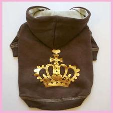 China gery fleece dog hoodie/paw printed dog hoodie/handsome dog hoodie on sale