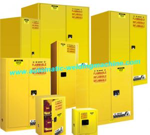 Quality Industrial Safety Fire Resistant File Cabinet Yellow For Flammable  Liquid Storage For Sale