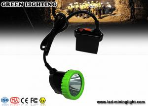 China 5W High Power LED Coal Miner Cap Lights Green And Black Head Lamp 1500mA on sale