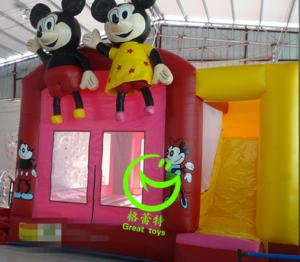 China 2016 hot sell Mickey mouse  inflatable bounce house with 24months warranty from GREAT TOYS on sale