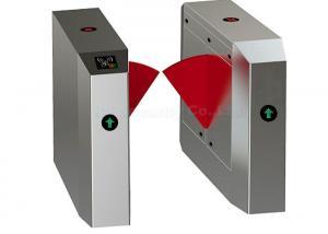 China Intelligent High Speed Flap Barrier Gate, Half Height Turnstile Optical Sensor Gate on sale