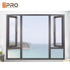 China Open Out Two Leaf Glass Aluminum Casement Windows / Powder Coated Swing Windows on sale