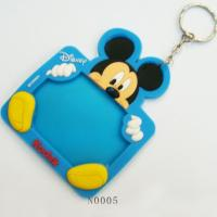 Mini Photo Frame Keychain For Promotional Gifts, Mickey Silicone Cusomized Picture Frames