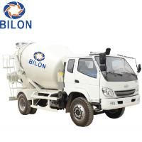 3m3 Concrete Mixer Truck With 4 Wheel Driver , 2 Wheel Steering