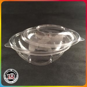 China 1000ml disposable plastic salad bowl on sale