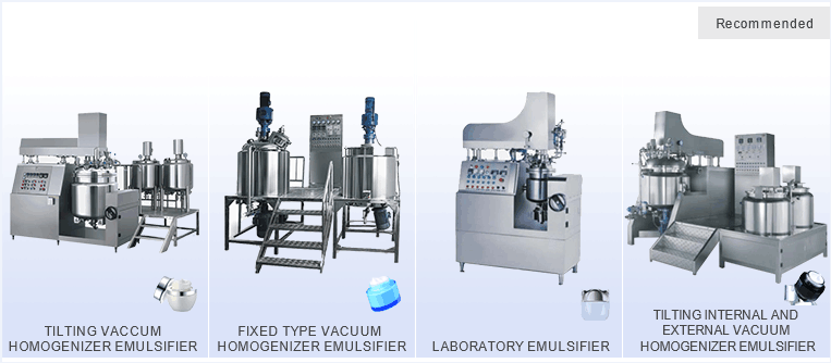 Cosmetic Vacuum Emulsifying Mixer Cream Mixing Machine 500L
