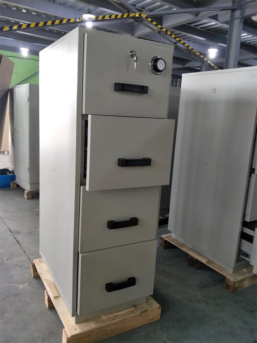 Grey Steel 4 Drawers Fire Resistant Filing Cabinets For
