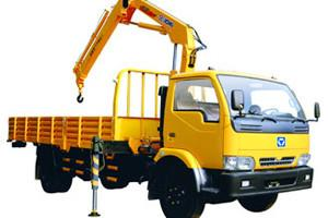 China Durable Knuckle Boom Truck Mounted Crane, Wire Rope Raise And Down 3200 kg on sale