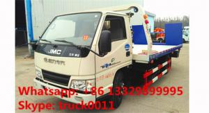 China JMC brand 4*2 LHD flatbed wrecker tow truck for sale,factory sale best price JMC road recovery rescue towing truck on sale