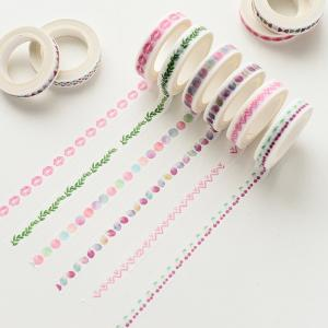 China Colorful Custom Printed Washi Tape for Stationary, DIY Self Adhesive Washi Tape on sale