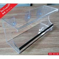 China Wall Mounted Clear Acrylic Bird Feeder with Hooks and Drainage System on sale
