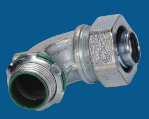 China Waterproof Malleable Iron Fittings 90 Degree Liquid Tight Connector Fire Resistance on sale