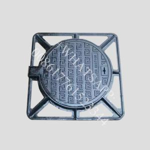 China d400 850x850  waterproof lockable bolted  ductile iron tampon fonte hydraulique on sale