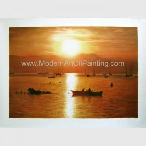 China Realistic Oil Portrait from Photograph, Sunrise Landscape Canvas Art Painting on sale