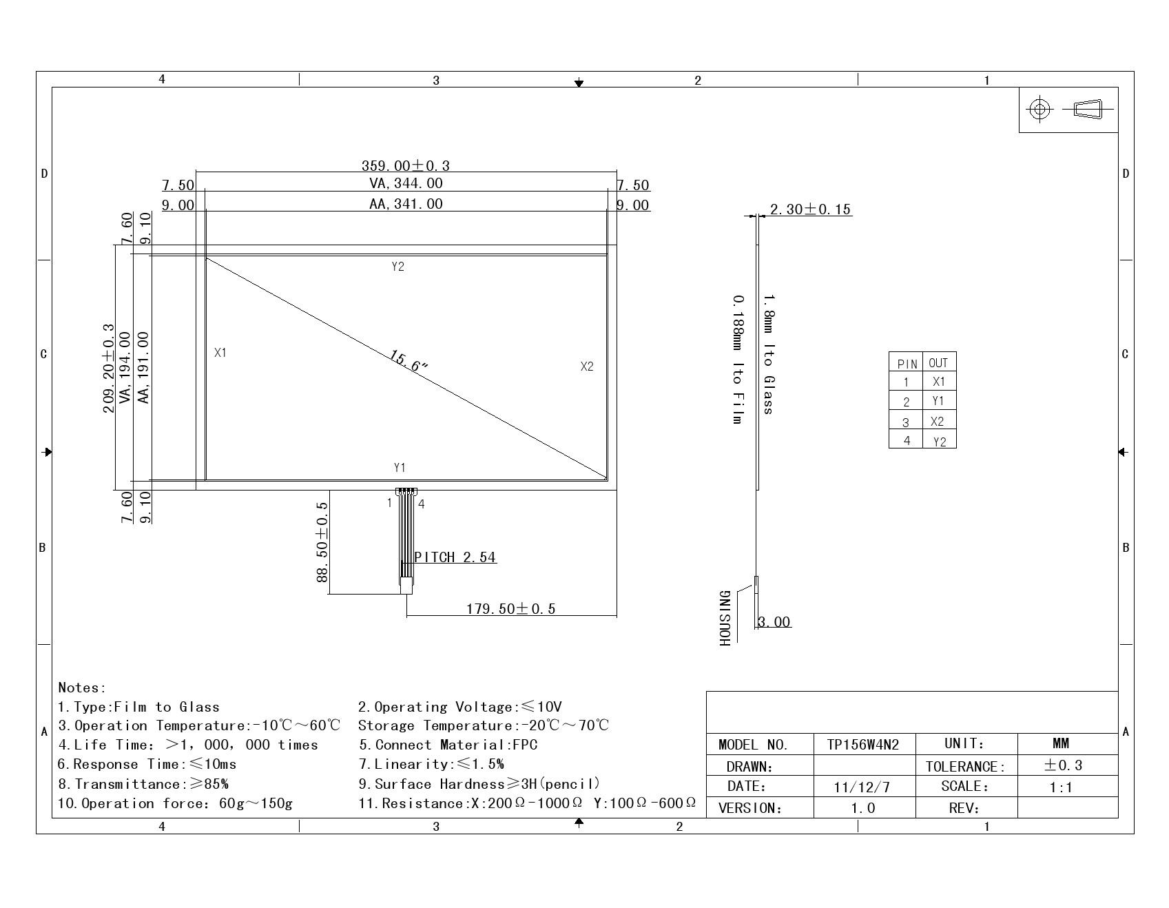 Transparent 4W RTP 15