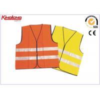 China Chaleco fluorescente de la seguridad de la cinta reflexiva colorida, wasitcoat de trabajo corto on sale