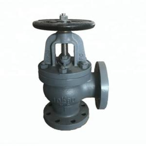 China F7310 Cast Iron Angle Valve 16K JIS Marine Valve For Oil And Gas Pipeline on sale