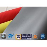 Silicone Coated Fiberglass Fabric 28.3OZ 0.65MM Grey Fire Smoke Curtain Cloth