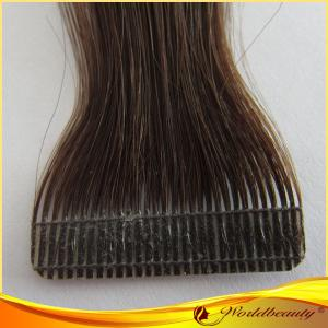 China Customize 23# Human Double Sided Tape Hair Extensions 18 Inch on sale
