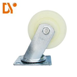 China Universal Heavy Duty Caster Wheels , 4 Inches Nylon Caster Wheels White Color on sale