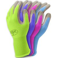 Nature color cotton gardening gloves with knit cuff
