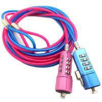 Colorful Steel Wire PVC Coating Security Cable Lock For Laptop Computer
