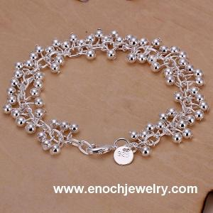 China hot new product 925 Silver beaded bracelet Jewelry on sale