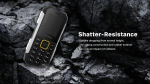 China Waterproof Unlocked GSM Mobile Phones Shockproof 2.0 Inch Screen For Senior Old People on sale
