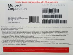 China FQC-08909 Microsoft Windows 10 Pro Oem Coa License Sticker Online Activation on sale