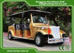 Luxurious Golden Classic Car Golf Carts 6 Person Whole Metal Body