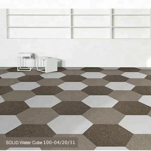 China Wholesale nonwoven 100%nylon black and white residential carpet tiles for home on sale