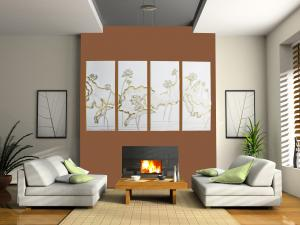 China Fireproof PU 3D Decorative Wall Panel for Interior Decoration on sale
