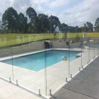 Pool railing outdoor guardrail 304/316 stainless steel glass fence