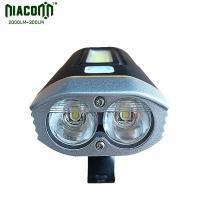 China Magnet Base COB Bike Light , USB Rechargeable Bicycle Light 2000lm Brightness on sale