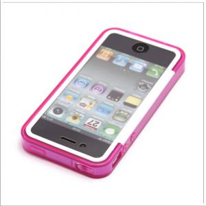 China Flexible design Double protective cases for iphone 4 / 4s on sale