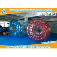 0.7mm TPU Blue and Red Inflatable Water Roller With Best quality