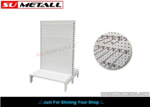 China Custom Steel Supermarket Display Shelves With Volcano Perforated Panel on sale