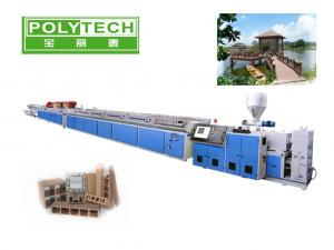 China Double Screw WPC Plastic Profile Extruder / Plastic Processing Machinery OEM ODM With Twin Screw Extruder on sale