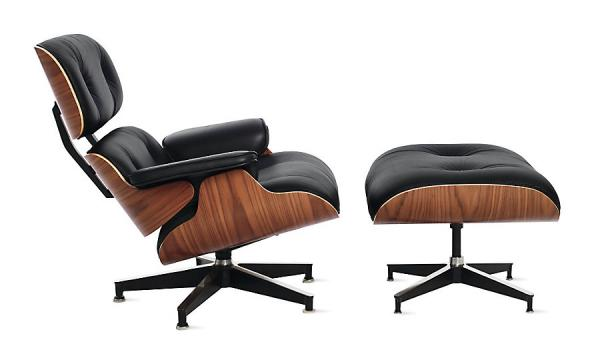 charles ray eames lounge chair with ottoman top grain italy leather