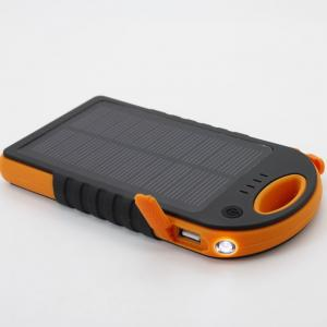 China 12000mAh lithium polymer battery solar charger power bank with LED light ABS+Silicon oil on sale