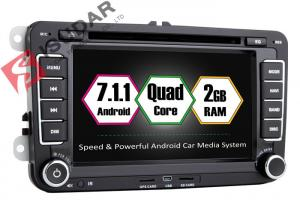 China Android 7.1.1 SKODA / Car DVD Player for VW For Seat With Canbus Quad Core 2G RAM on sale