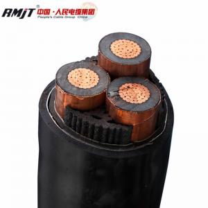 China 15kv 33kV Medium Voltage Steel Wire Armoured Electrical Cable 3 Phase Copper Wire Screen XLPE Power Cable on sale