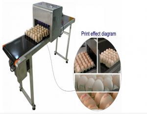 China Automatic Single Row Egg Printing Machine With Small Solvent Printer on sale